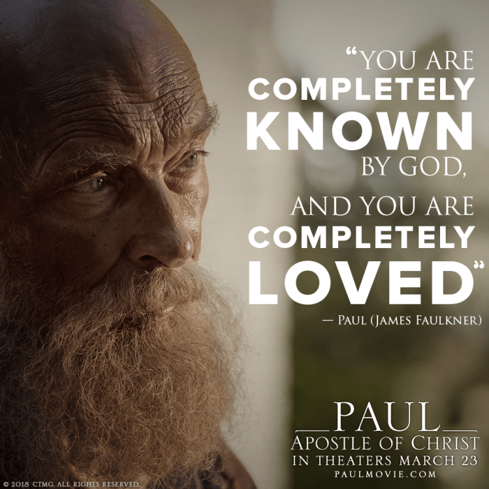 paul, apostle of christ movie