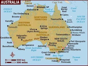 Australia map 🗺