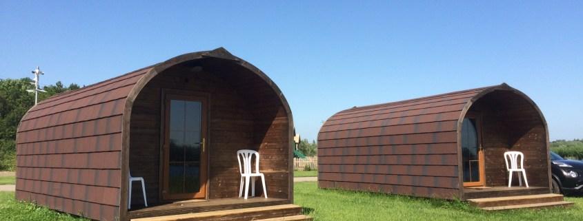lakeside pods at Croft Farm Waterpark