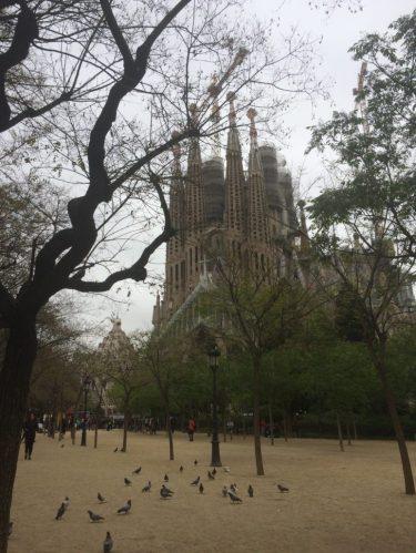 The outsided of La Sagrada Familia