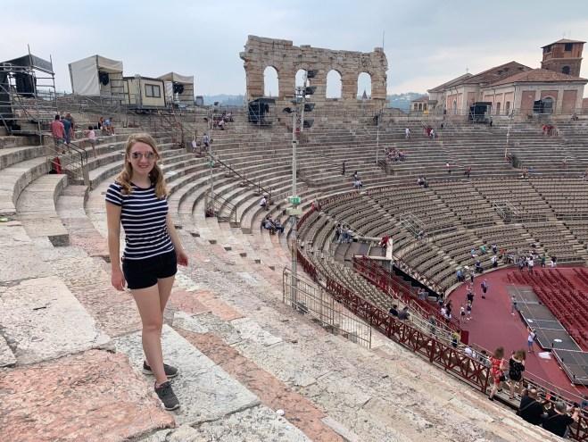 me in front of verona arena