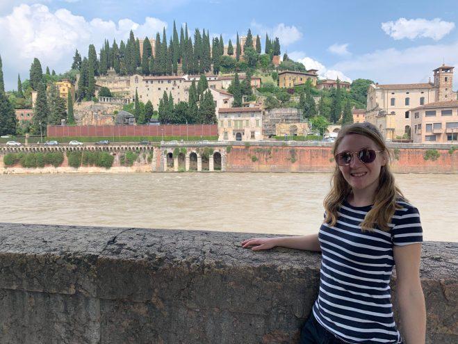 stood in front of the river adige in verona
