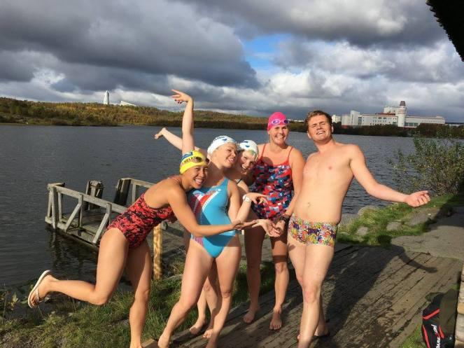 First swim in Russia