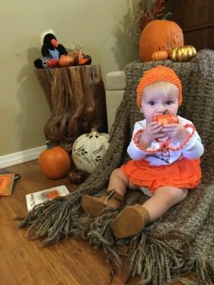 My pumpkin eating a pumpkin. ;)