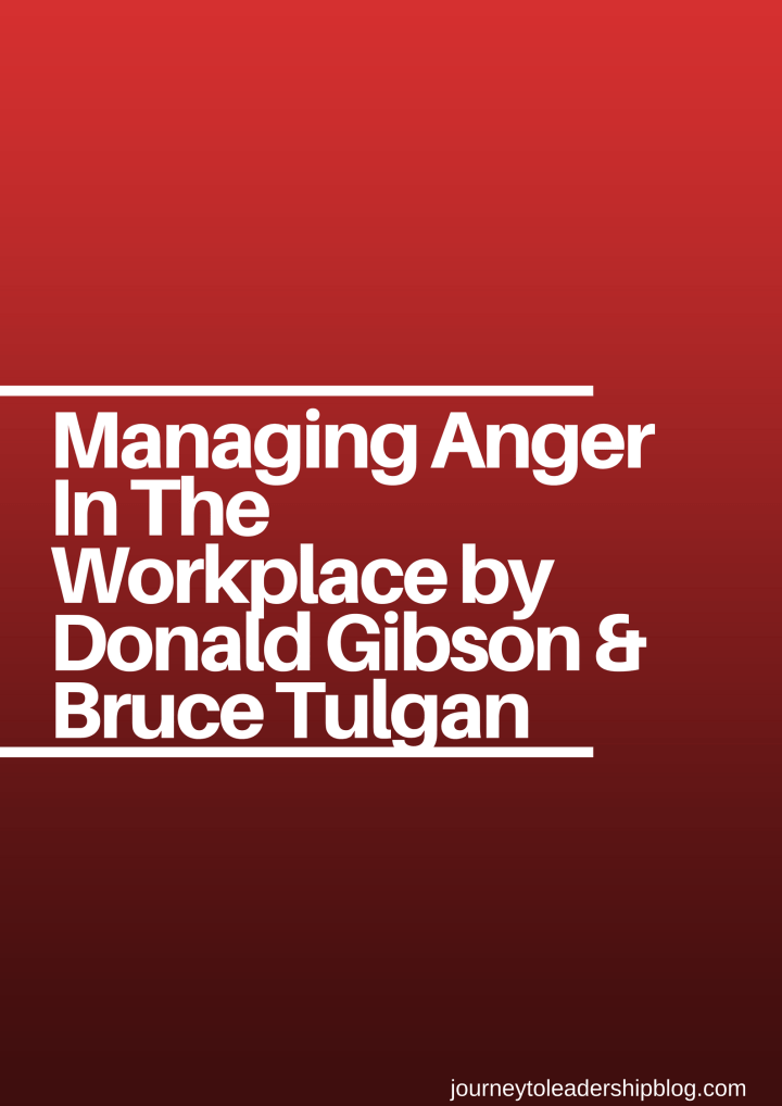 Managing Anger In The Workplace by Donald Gibson & Bruce Tulgan