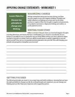 Applying Change Statements – Worksheet 1 (COD)