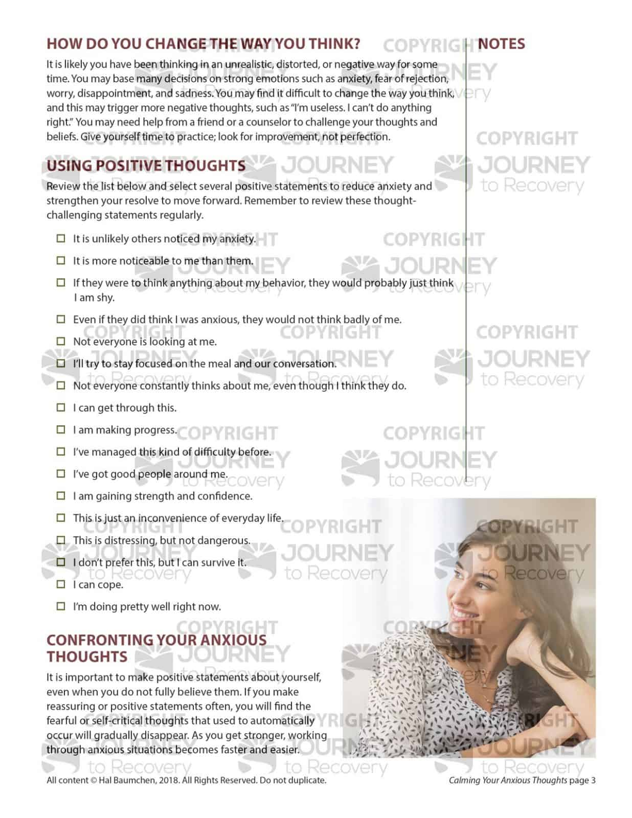 Calming Your Anxious Thoughts Mh Lesson