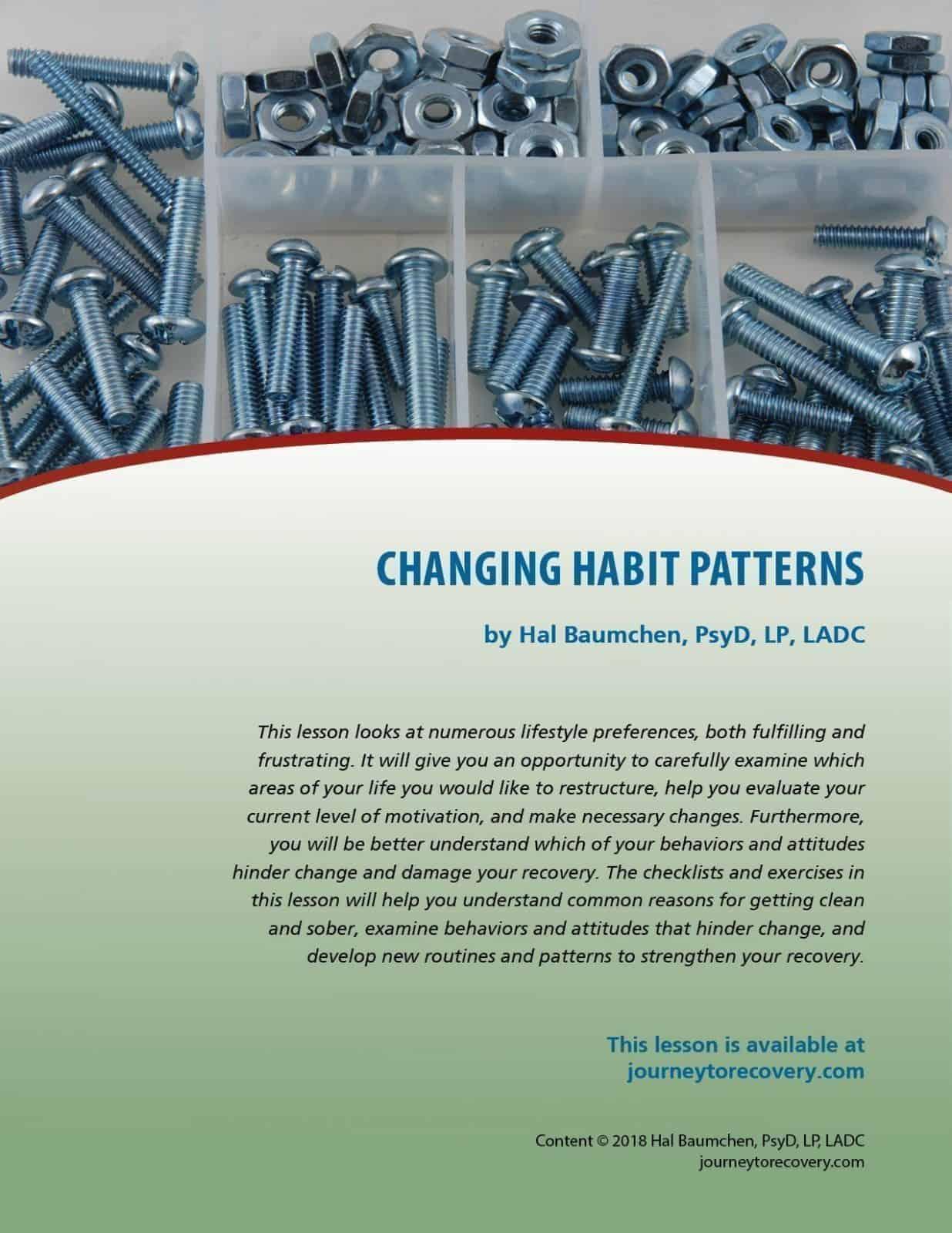 Changing Habit Patterns Cod Lesson