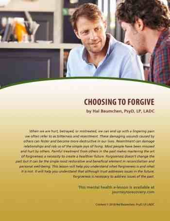 Choosing to Forgive (MH Lesson)
