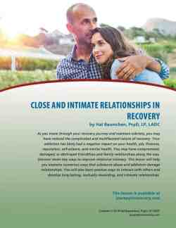 Close and Intimate Relationships in Recovery (COD Lesson)
