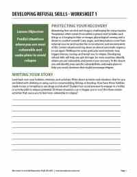 Developing Refusal Skills - Worksheet 1 (COD)
