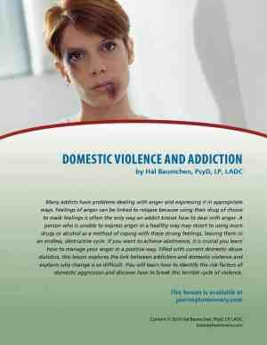 Domestic Violence and Addiction (COD Lesson)