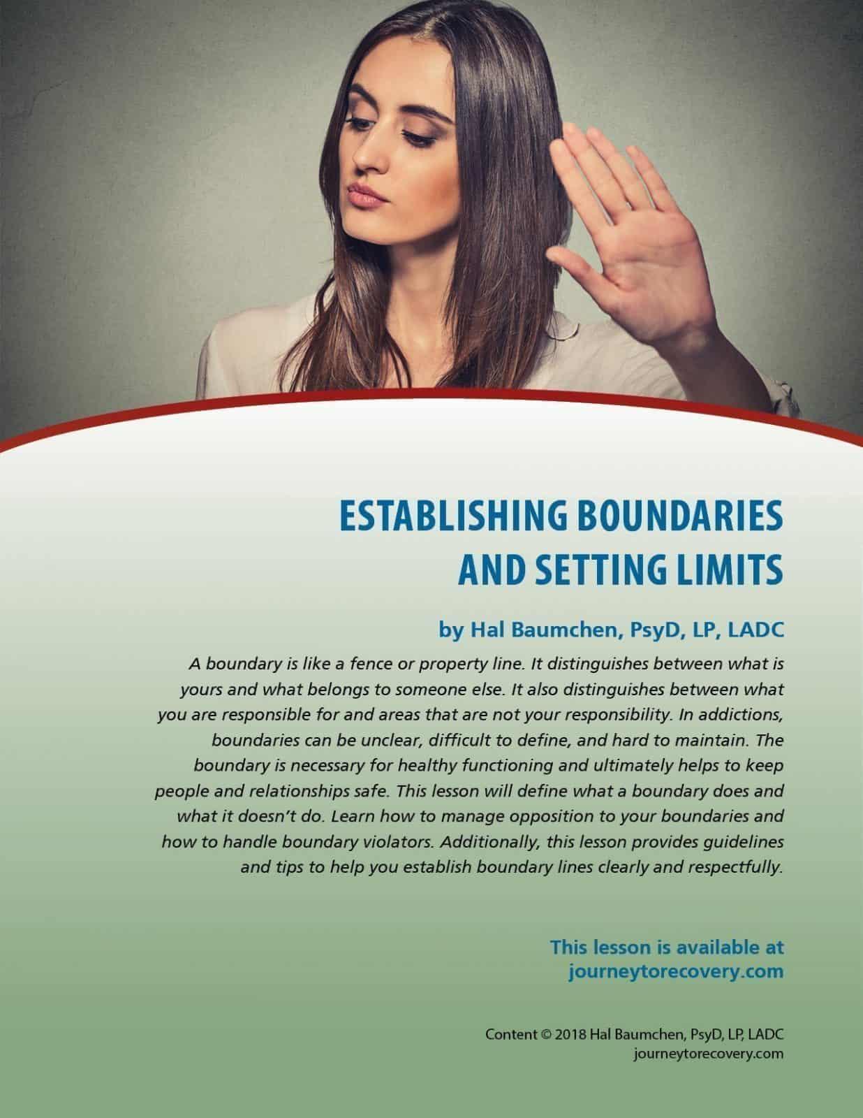 Setting Limits Worksheet