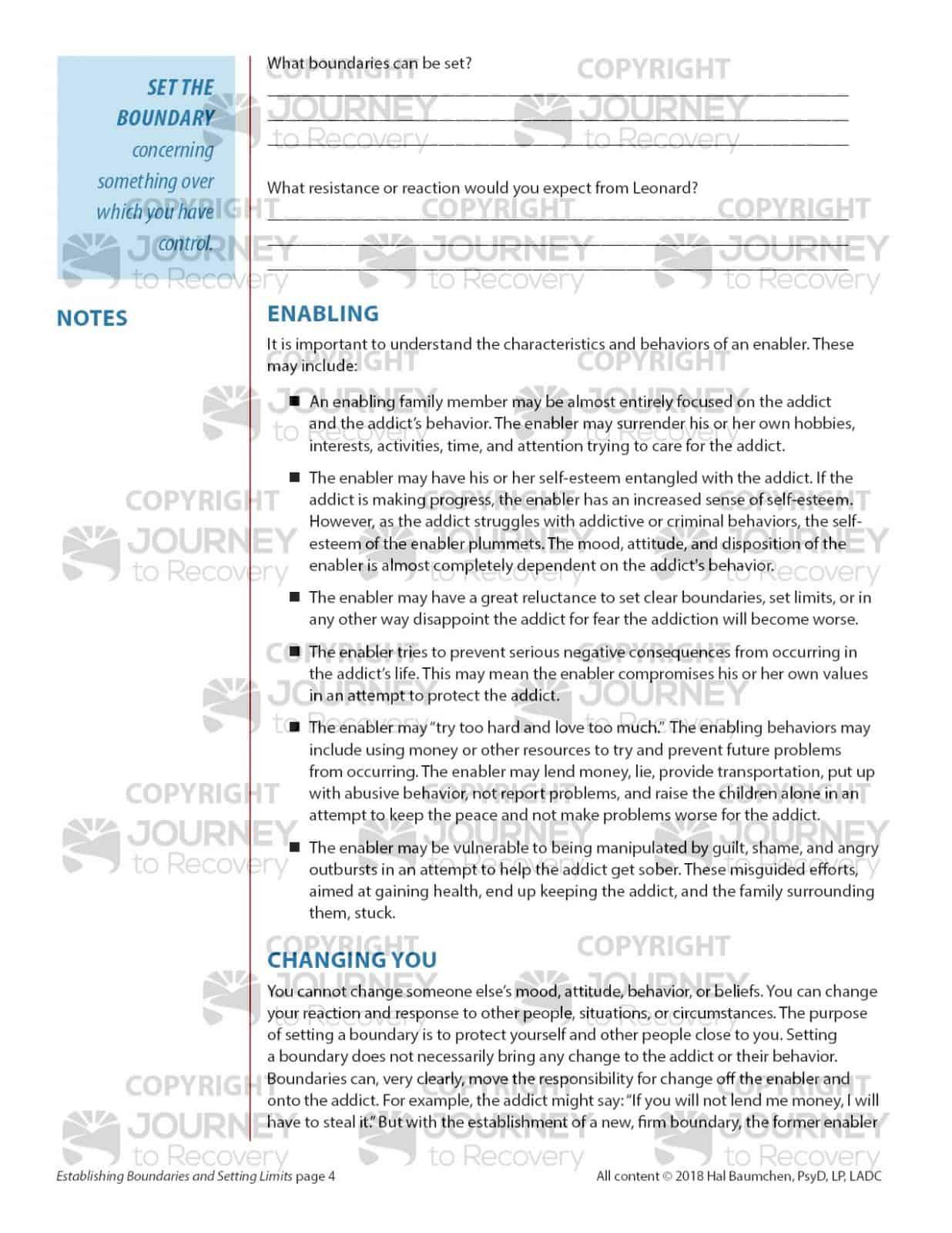 Establishing Boundaries And Setting Limits Cod Lesson