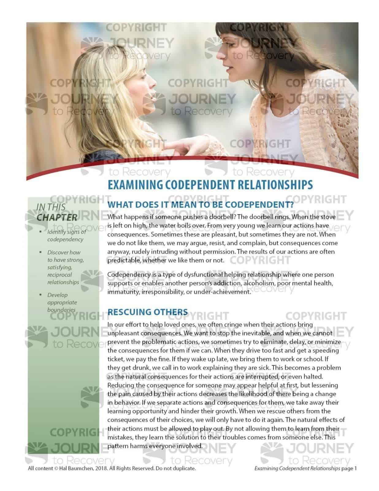 Examining Codependent Relationships Cod Lesson