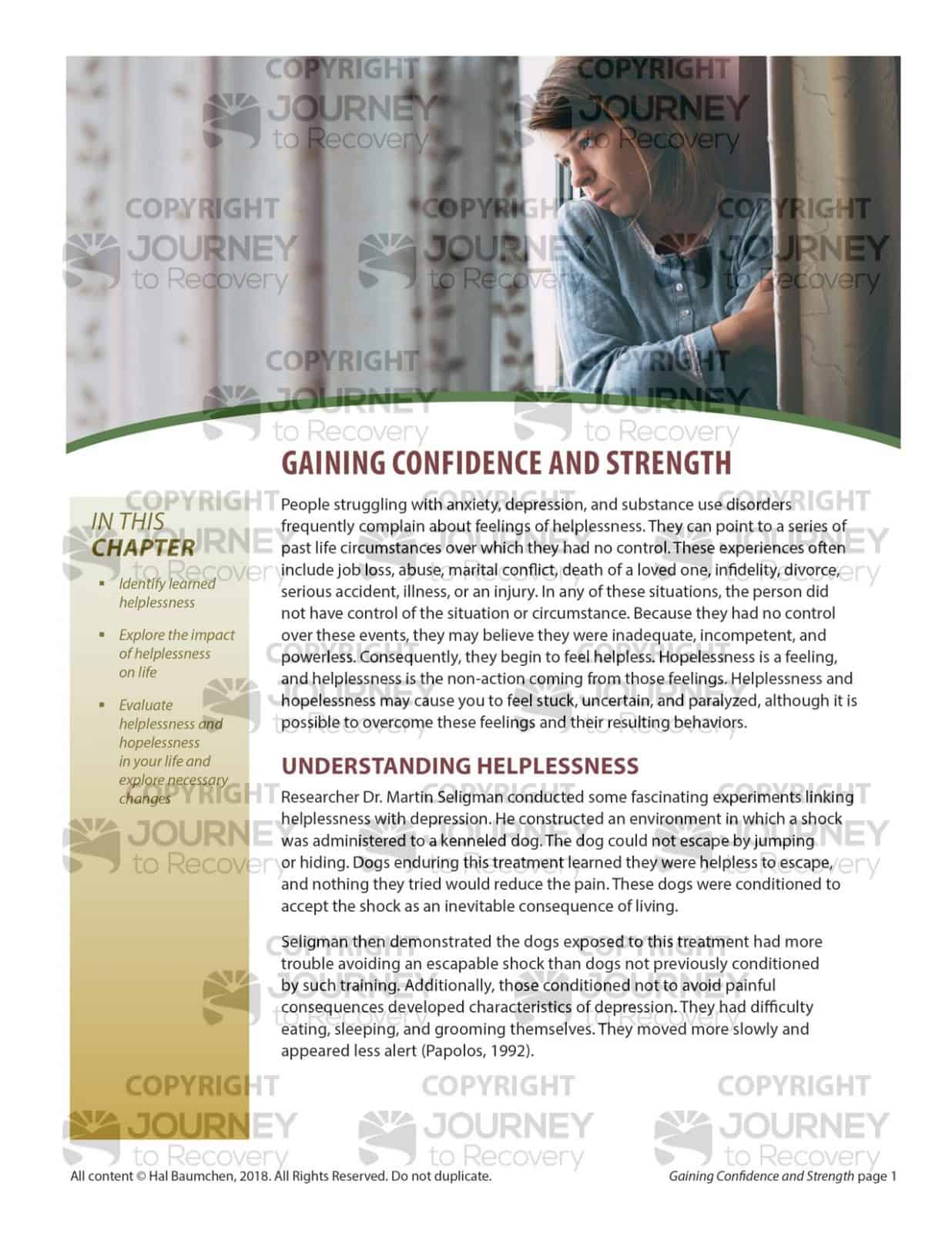 Gaining Confidence And Strength Mh Lesson