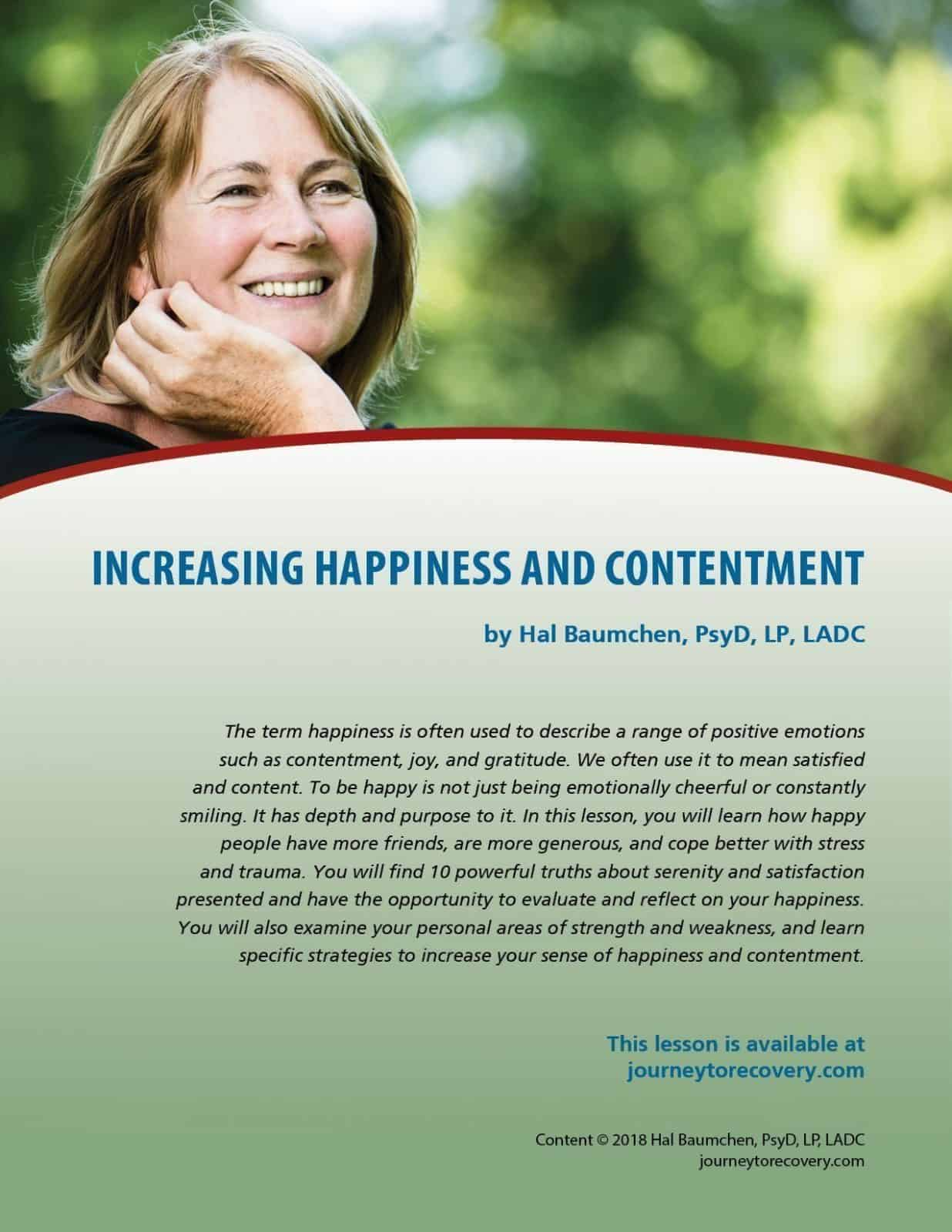 Increasing Happiness And Contentment Cod Lesson