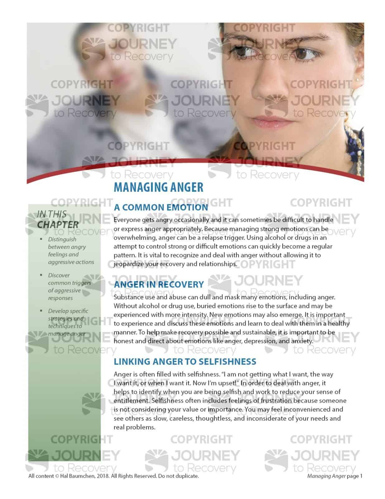 Managing Anger Cod Lesson