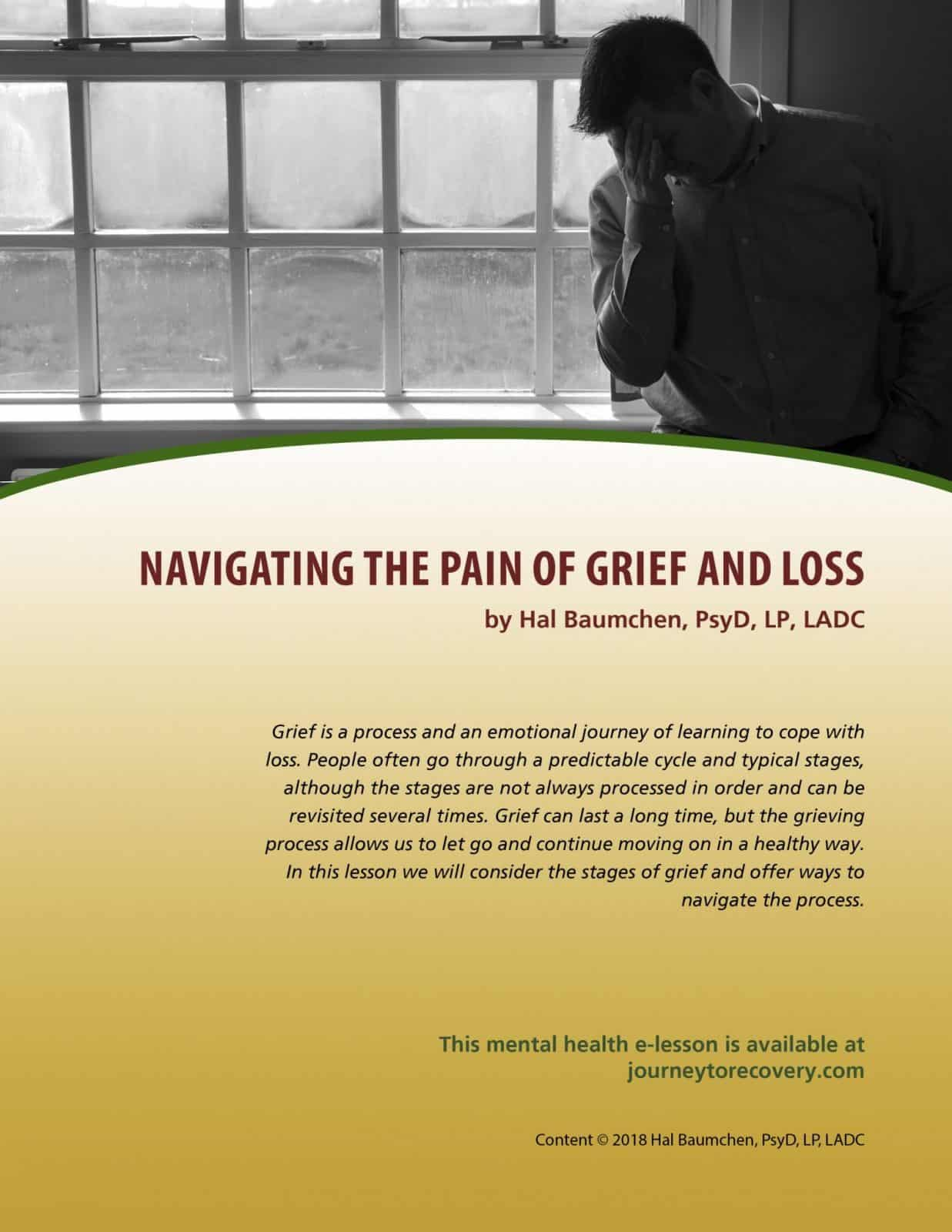 Navigating The Pain Of Grief And Loss Mh Lesson