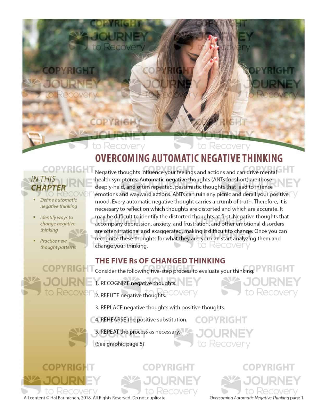 Overcoming Automatic Negative Thinking Mh Lesson