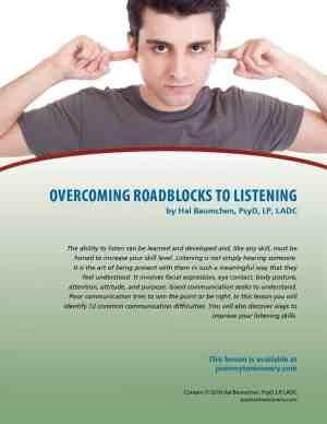 Overcoming Roadblocks to Listening (COD Lesson)