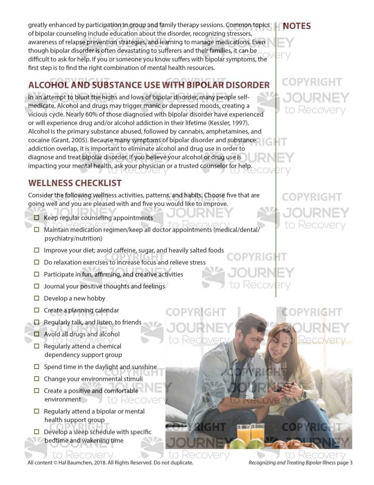 Worksheet For Bipolar Disorder