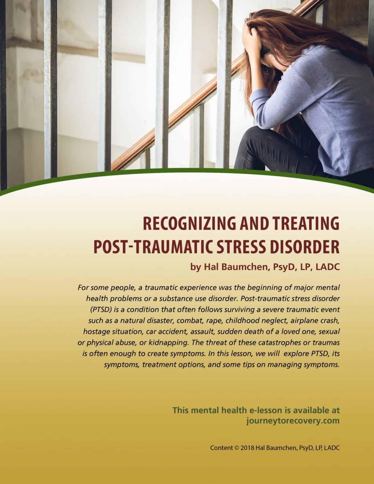Recognizing And Treating Post Traumatic Stress Disorder