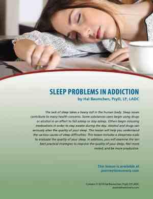 Sleep Problems in Addiction (COD Lesson)