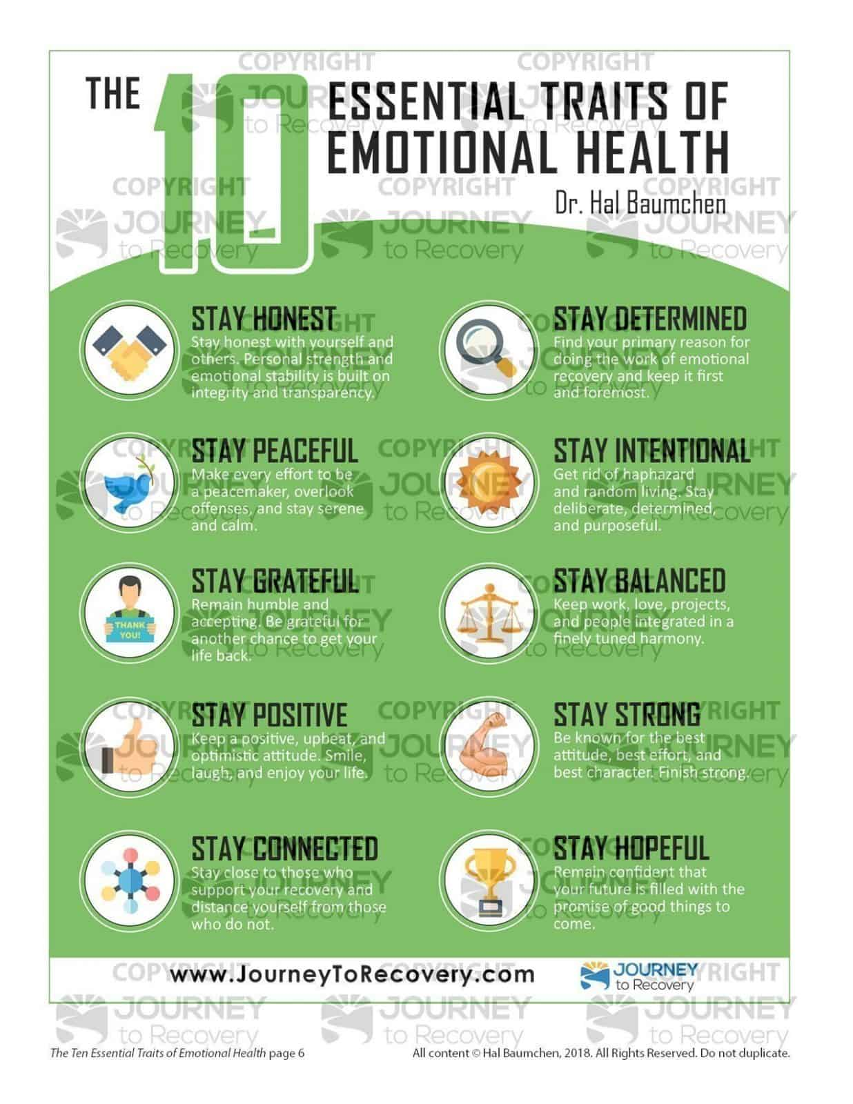 The Ten Essential Traits Of Emotional Health Mh Lesson