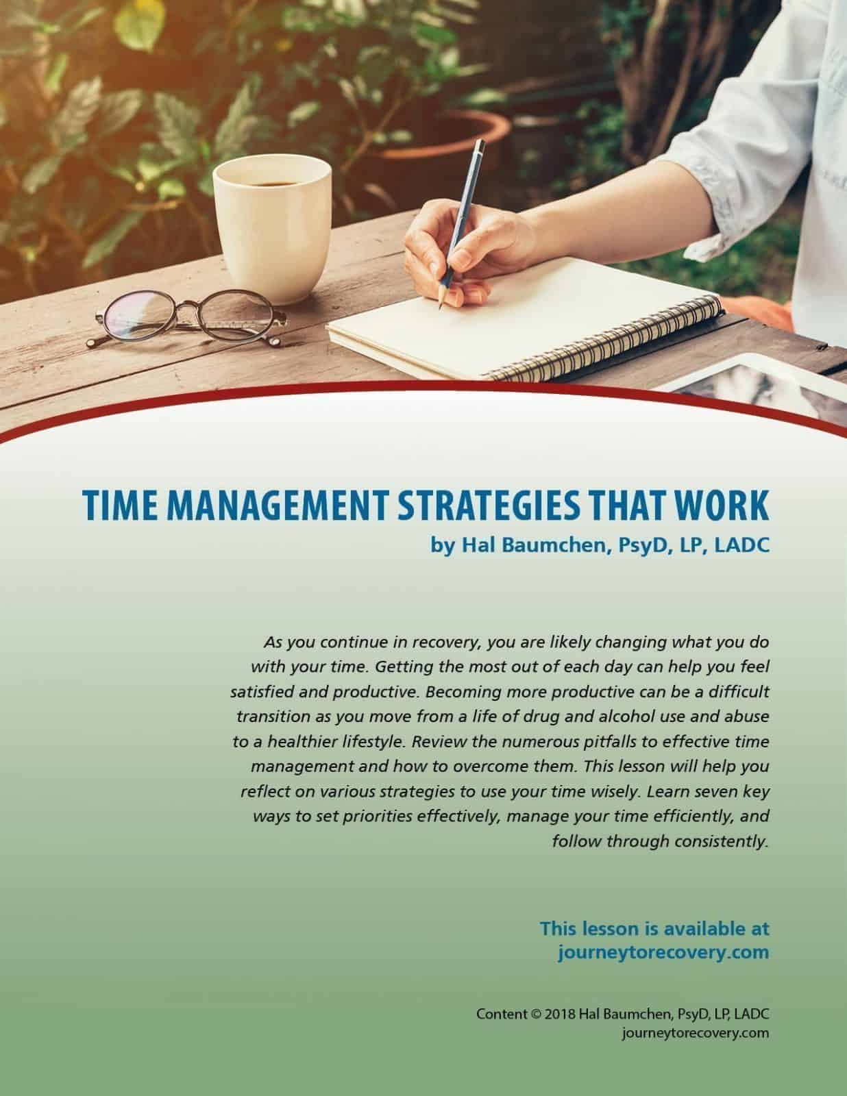 Time Management Strategies That Work Cod Lesson