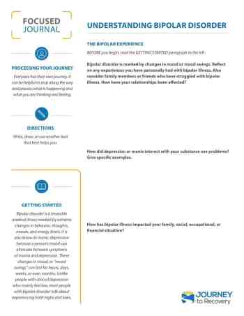 Understanding Bipolar Disorder (COD Focused Journal)