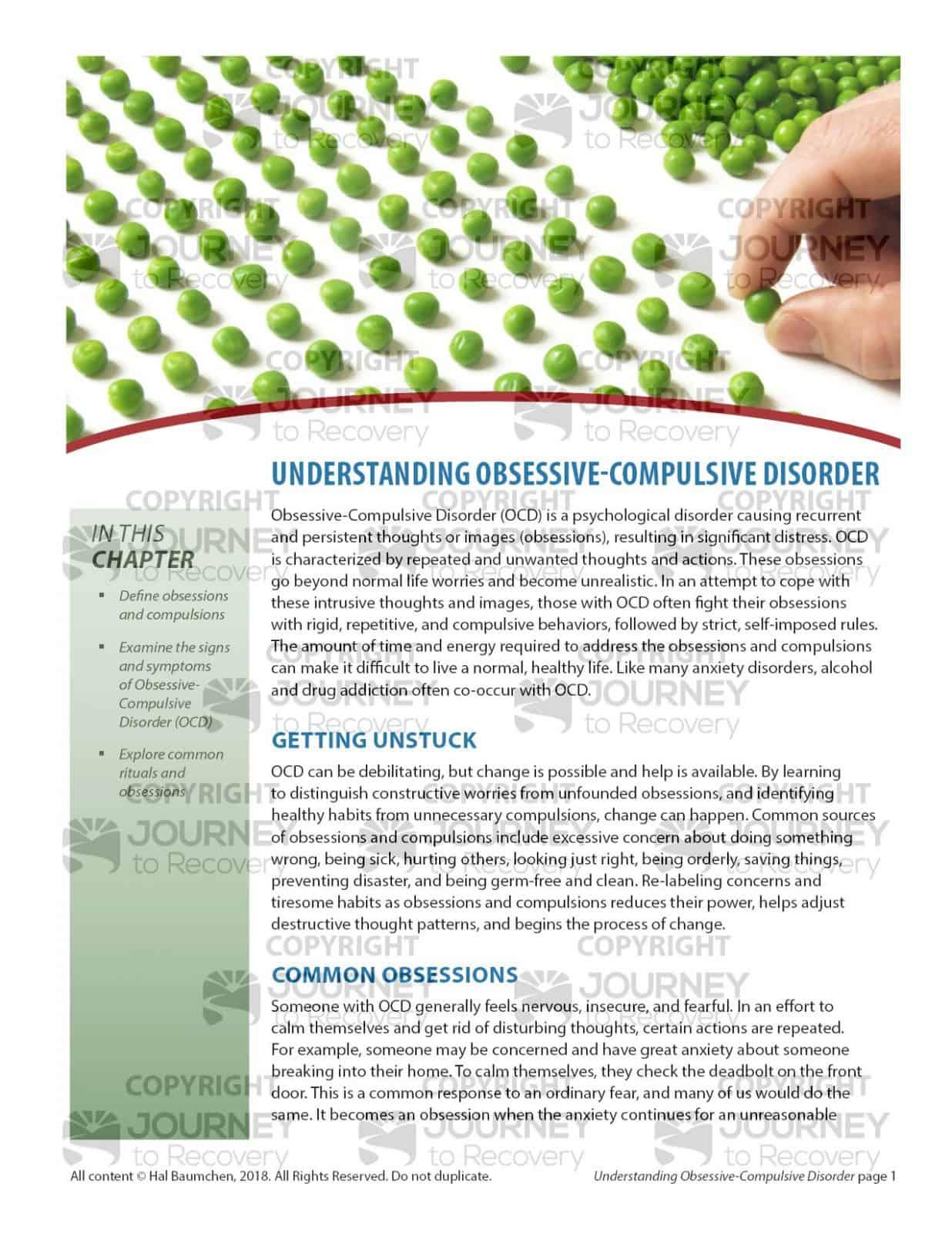 Understanding Obsessive Compulsive Disorder Cod Lesson