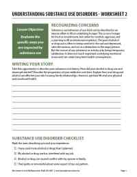 Understanding Substance Use Disorders - Worksheet 2 (COD)