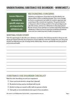 Understanding Substance Use Disorders – Worksheet 2 (COD)