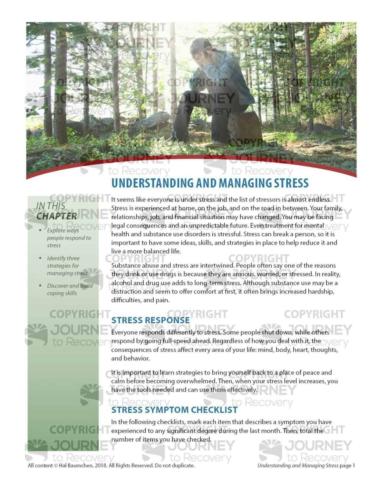 Understanding And Managing Stress Cod Lesson