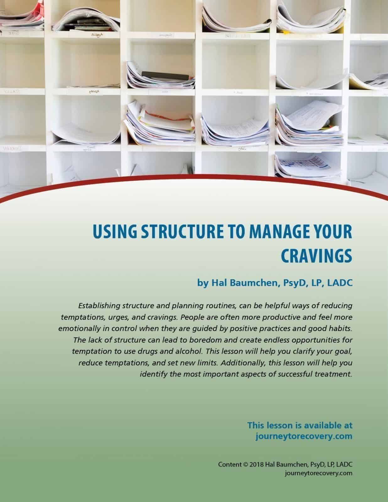 Using Structure To Manage Cravings Cod Lesson