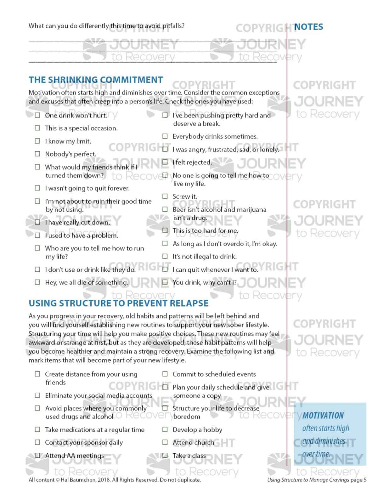 Boredom Recovery Worksheet
