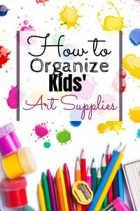 How to Organize Kids' Art Supplies