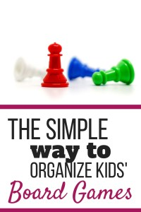 Simple Way to Organize Kids' Board Games