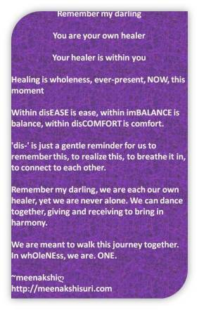 within discomfort own healer dance