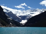 Descent to Lake Louise