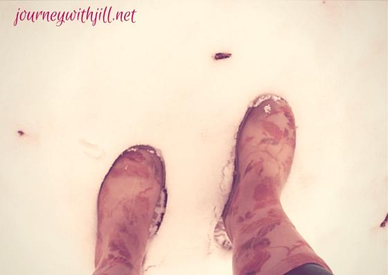 Garden Boots in Snow