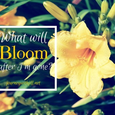 What Will Bloom After I'm Gone?