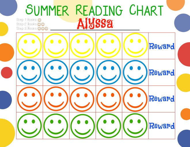 Summer Reaading Chart Pre-K | Journey with Jill