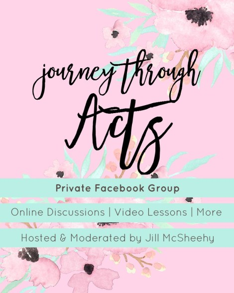 Journey through Acts Facebook Group with Jill McSheehy