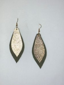 Leather Earrings by Overall Leather
