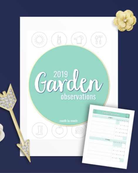 2019 Monthly Garden Observation Journal
