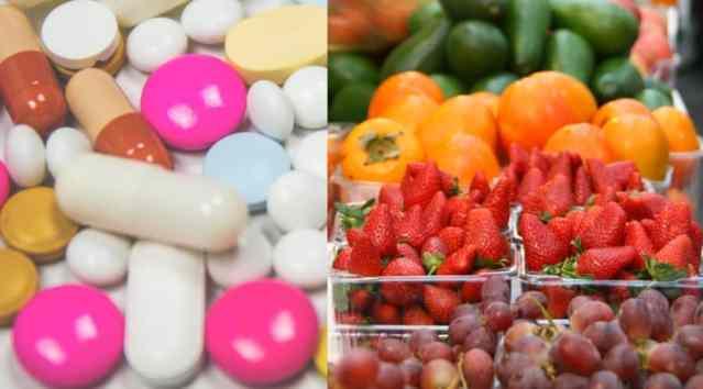 Medicine vs fruit
