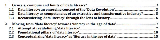 (Data-Pop Alliance, 2015). / Beyond Data Literacy
