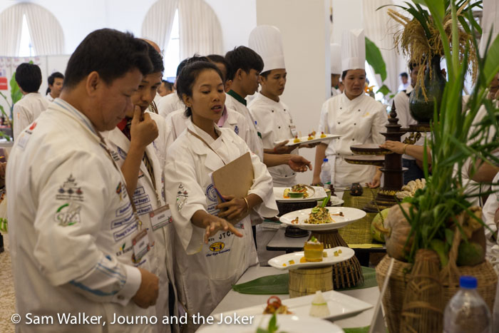 Judging food at CAMFOOD15